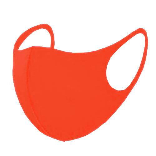 leichte Stoffmaske als Mundnasenbedeckung orange f. Erwachsene