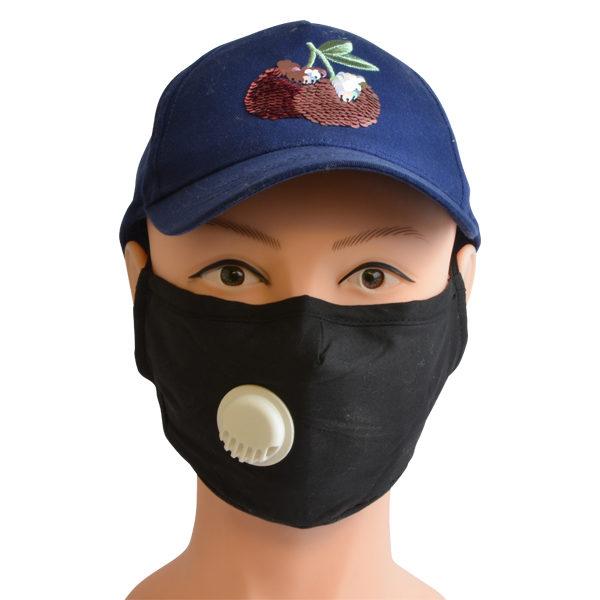 Mund-Nasen-Maske mit herausnehmbaren Filter und Ventil