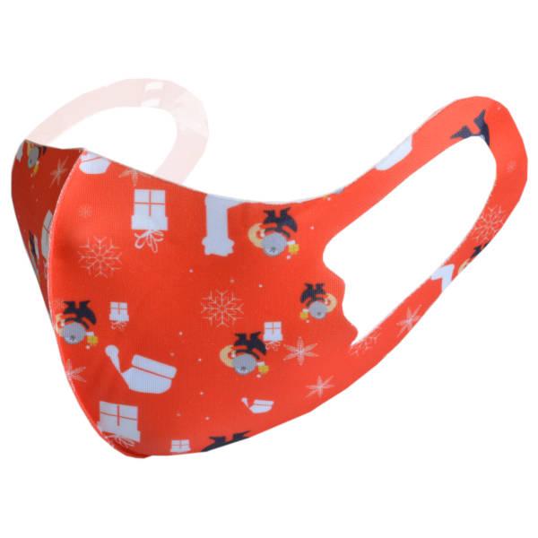 """Glatte elastische Stoffmaske """"Weihnachten 3"""" Kinder Gr. 2"""