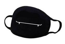 Nasen-Mundschutz-Maske in Schwarz mit Motiv