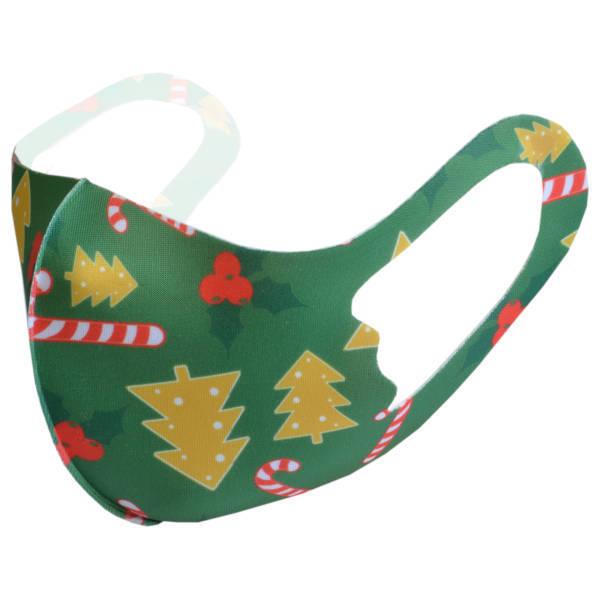 """Mundnasenmaske aus elastischem Stoff """"Weihnachten 4"""" Kinder Gr. 2"""