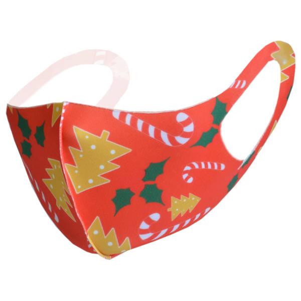 Mund-Maske aus Stoff für Erwachsene   Weihnachtsmotiv 1