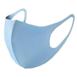 Dünne Stoffmaske für Erwachsene Sportler HELLBLAU